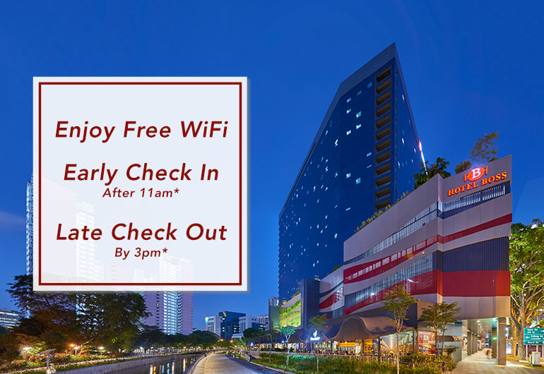 Free WiFi, Early Check-In, Late Check-Out