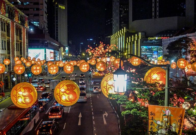 Chinese New Year Light Up in Chinatown Singapore