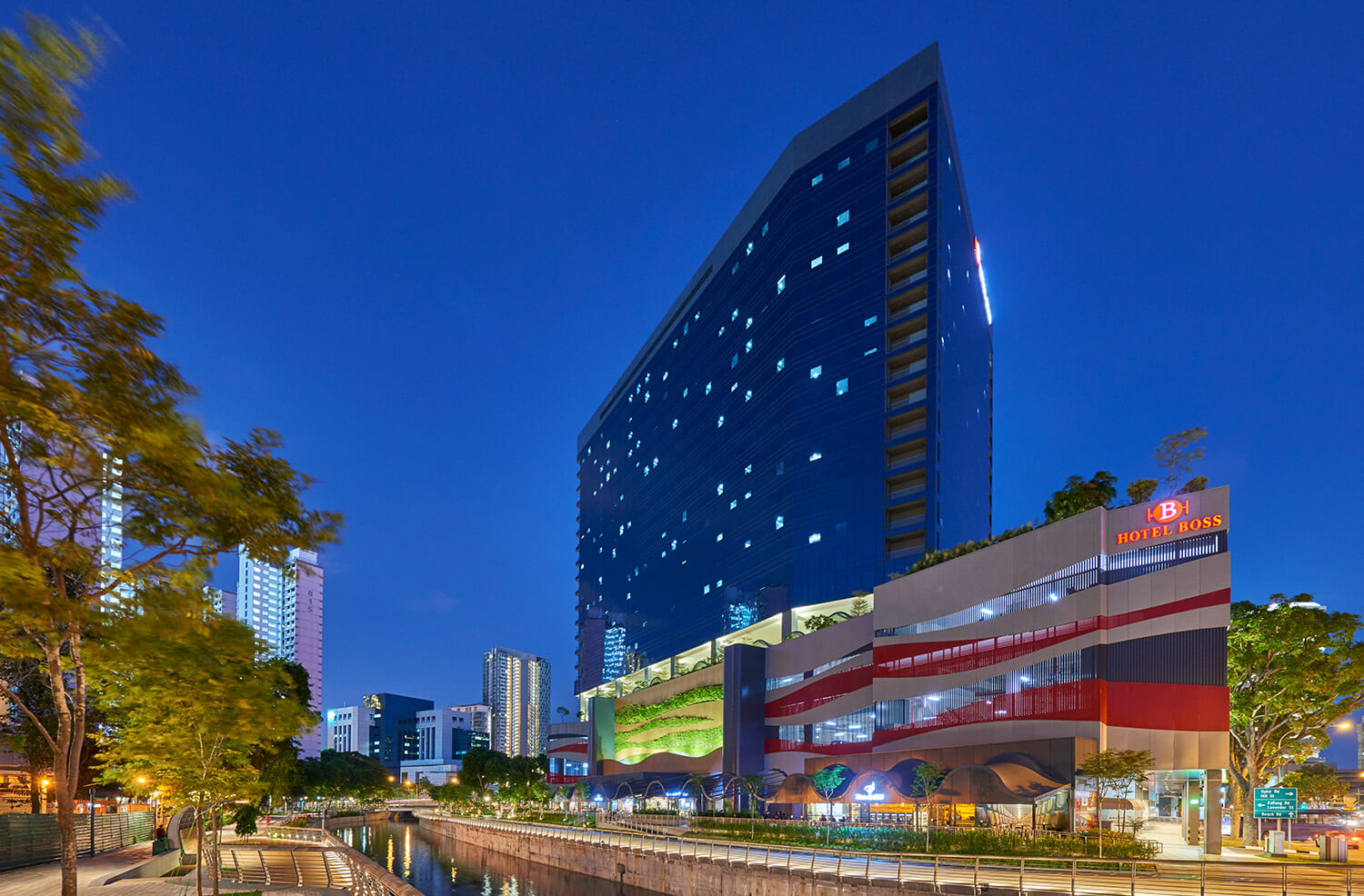 Night View | Hotel Boss Singapore