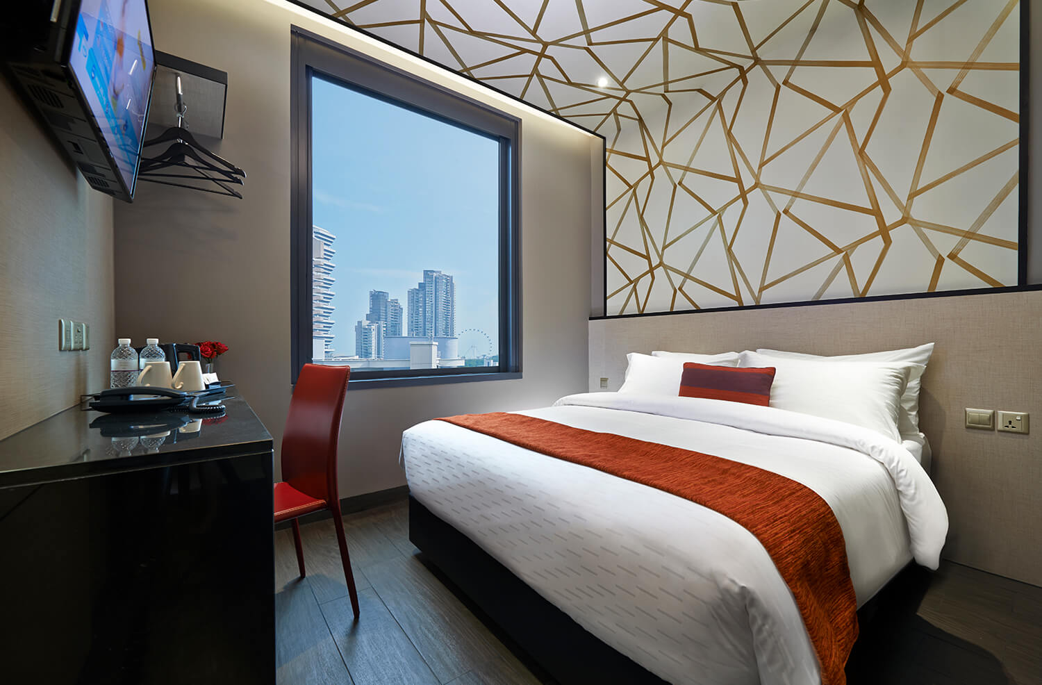 Twin City View Room | Hotel Boss Singapore